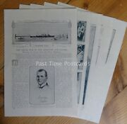 Ww1 Naval War In The Atlantic And Pacific 1914 The Great War 13x Original Prints