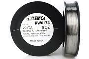 Temco Kanthal A1 Wire 29 Gauge 8 Oz 1613 Ft Resistance Awg A-1 Ga