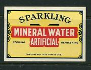 Sparkling Mineral Water Artificial Label / Poster Stamp