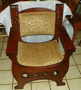 Solid Quartersawn Oak Arts And Crafts Mission Armchair / Hall Chair Ac66
