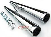 Dunstall Style Silencers To Suit Retro Honda Superdream Motorcycles