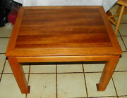 Mid Century Walnut And Ash End Table / Side Table By Lane Rp T468