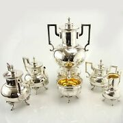 Extensive 6pcs Silver Plated Tea And Coffee Set Mappin And Webb England Circa 1930