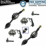 Cv Axle Hub And Bearing Assembly Outer Tie Rod Kit For 02-03 Explorer Mountaineer