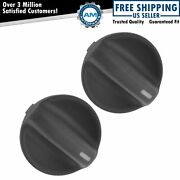 Oem Temperature Or Fan Speed Control Knob Molded Black Plastic Pair For Accord