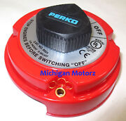 Perko Marine Dual Battery Selector Switch For Boat/rv Motor - 7-0378