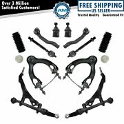 Control Arm Tie Rod Ball Joint Strut Bellow Suspension Kit New For Integra Civic