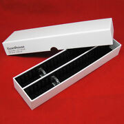50 Dime Black Ring Type Airtite Coin Holders With 13 Capsule Storage Box