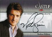 Castle Season One And Two A1 Autograph Card By Nathan Fillion As Richard Castle