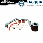 Performance Cold Air Intake Cai W Red Air Filter For Civic Dx Ex Lx Manual New