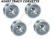 1963-1964 Corvette Knock Off Aluminum Wheel Set W/spinners And Hardware 15x6 New