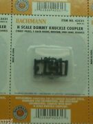 N Scale Bachmann Dummy Knuckle Couplers 42531 Three Pairs