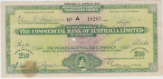 1964 Travelerand039s Cheque 10 Pound Northern Territory 1d Stamp Duty South Aust