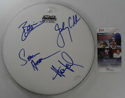Huey Lewis And The News Autographed Drumhead Certified Authentic Jsa Coa Ii10044