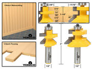Flooring 2 Bit Tongue And Groove V Notch Router Bit Set - 1/2 Shank - Yonico 15