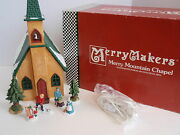 Vintage Department 56 Merry Mountain Chapel Light Up Church 9370-0 Iob Villagers