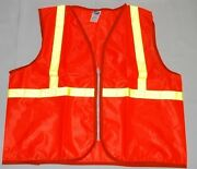North Safety Products Tva2/15nz/oxl Reflective Traffic Safety Vest Lot Of 5