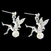 Tinkerbell Made With Crystal Pixie Tinker Bell Fairy Earrings Jewelry