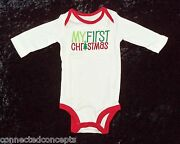 Carters Christmas My First Christmas Infant Long Sleeve Bodysuit 3 Months