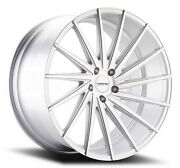 22x10.5 Varro Vd15 5x112mm +42 Matte Silver Brushed Face Wheels Set Of 4