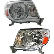 Headlight Set For 2005-2011 Toyota Tacoma Left And Right With Bulb Capa 2pc