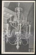 Postcard New York Ny St Pauland039s Chapel Waterford Crystal Chandelier View 1950and039s