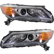 Headlight Set For 2013 2014 2015 Acura Ilx Left And Right With Bulb 2pc