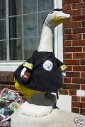 Lawn Goose Clothes Steelers Football Cement Plastic Black Yellow Cotton Garden