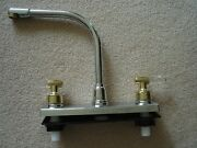 Rv Marine Kitchen Sink Faucet Chrome With Brass/clear Handle Camper Trailer