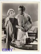 Micheline Presle Paul Newman Barechested Vintage Photo The Prize