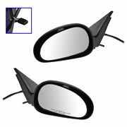 Power Side View Mirrors Textured Left And Right Pair Set For 99-04 Ford Mustang