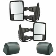 Towing Mirror Power Folding Telescoping Heat Smoked Signal Memory Pair For Ford