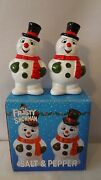 Benjamin Medwin 1990 Frosty The Snowman Salt And Pepper Shakers Mib H494