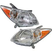 Headlight Set For 2005-2008 Pontiac Vibe Wagon Left And Right With Bulb 2pc