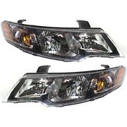 Headlight Set For 2010-2011 Kia Forte Left And Right With Bulb 2pc