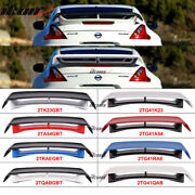 Fits 09-20 Nissan 370z N Style Style Painted Trunk Spoiler Wing Color - Abs