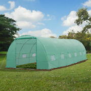 New Greenhouse 26'x10'x7' Large Size Walk In Hot Green House Plant Gardening