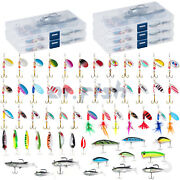 60 Spinner Crankbait Rooster Tail Bass Trout Fishing Lure Lot Gear Tackle Box