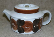 Arabia Finland Anemone Brown Teapot Ulla Procope Pottery 4 Cup with Diffuser