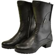 Oxford Savannah Waterproof Leather Motorcycle Boots Womens Size 40/8