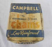 1940and039s Automobile Tire Chains Lug-reinforced Campbell One Pair Collectibles