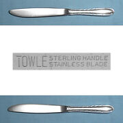 Towle Sterling Modern Hollow Knife Silver Flutes No Mono