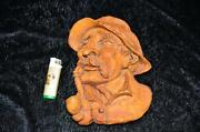 Fine Antique 19th Century Black Forest Carved Wooden Bavarian Farmer 9 Inches