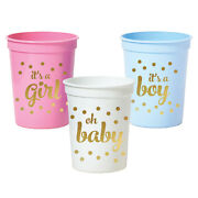 500pk Metallic Gold Baby Shower Party Cups Baby Shower Decorations