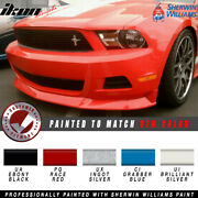 Fits 10-12 Ford Mustang V6 S Style Front Bumper Lip Painted