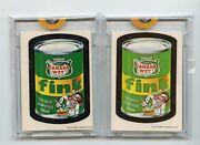 1973 Tops Wacky Packages Proof And Sticker Set Fink