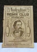Rare 1877 Peck And Snyder Baseball Sport Equipment Catalog / Indian Club Exercise