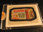 1986 Topps Wacky Packages Album Stickers 44 Blunder