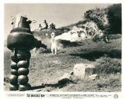 Invisible Boy Original Rare Lobby Card Robby The Robot Faces Tank And Flame Throw