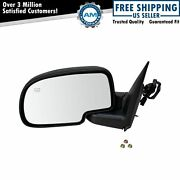 Side View Mirror Power Heated Black Textured Driver Left Lh For Chevy Gmc